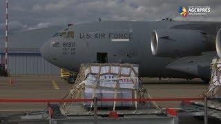 Coronavirus: Un avion militar american a adus în Rusia un prim lot de 50 de aparate de ventilaţie donate de SUA