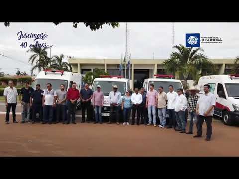 Aniversário 40 anos: Entrega de obras e ambulâncias em Juscimeira