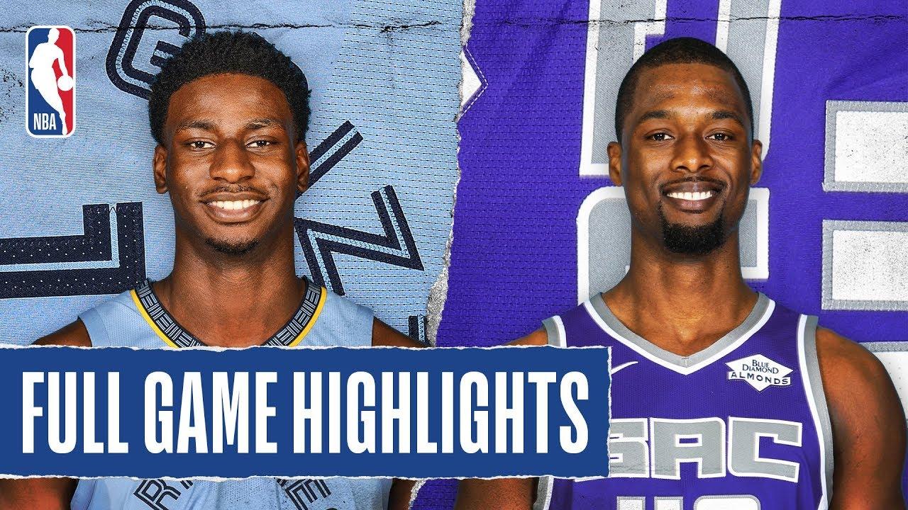 Memphis Grizzlies vs Sacramento Kings [Thu, Feb 20, 2020]