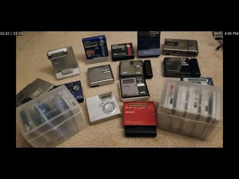My Sony Minidisc Player Collection!