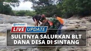 Tempuh 2 Hari Perjalanan, Seret dam Gotong Perahu Demi Salurkan BLT-DD di Pedalaman Sintang