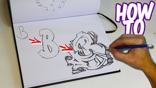 How To Practice Graffiti Tutorial Letter B