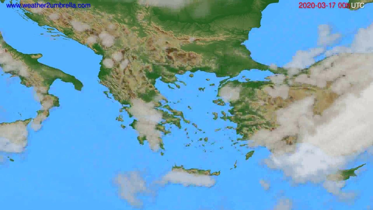 Cloud forecast Greece // modelrun: 00h UTC 2020-03-16