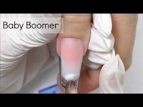 Baby boomer nails tutorial