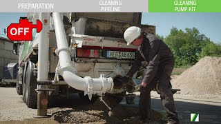 SCHWING-Stetter - Tutorial 02: Cleaning truck-mounted concrete pump