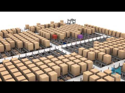 RAFT ASRS Pallet Storage System with Put Wall Intake | SRSI