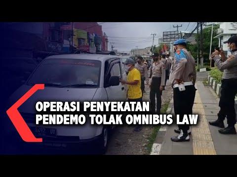 operasi penyekatan pendemo tolak omnibus law