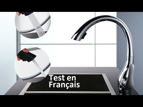 Test du robinet mitigeur avec douchette Homelody en forme de cygne
