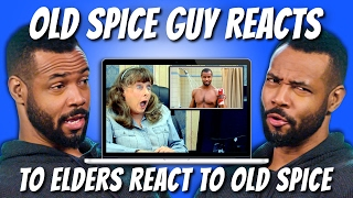 ISAIAH MUSTAFA (SHADOWHUNTERS) REACTS TO ELDERS REACT TO OLD SPICE COMMERCIALS