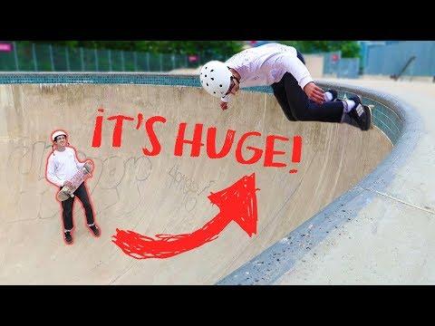 STREET SKATER VS HUGE BOWL – Pier 62 Skatepark