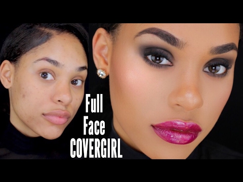 FULL FACE COVERGIRL MAKEUP - Valentines Day Makeup