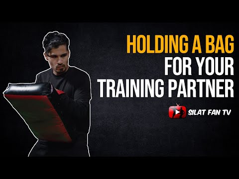 How to hold a bag for your training partner   Pencak Silat