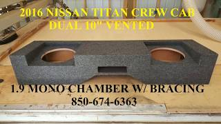 2016 NISSAN TITAN DUAL 10 VENTED BY SOUNDOFFAUDIO.COM