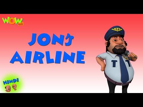 John's Air Line - Motu Patlu in Hindi - 3D Animation Cartoon for Kids -As seen on  Nickelodeon