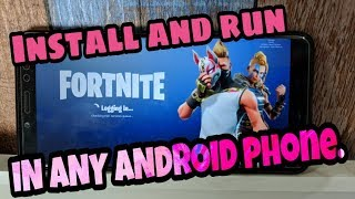 Play Fortnite on Any Android Smartphone with this Method