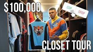 MY $100,000 CLOSET TOUR!! (BIGGEST GUCCI & BALENCIAGA COLLECTION?)