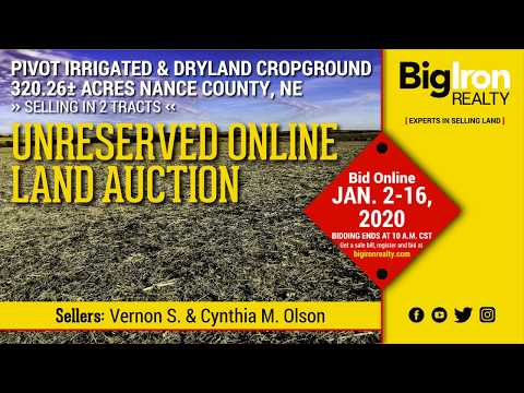 Land Auction 320.26+/- Acres Nance County, Nebraska selling in 2 tracts