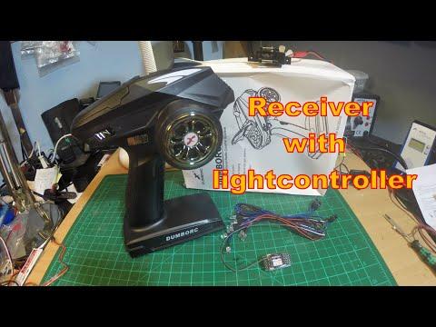 DumboRC X6P radio with receiver-integrated light controller