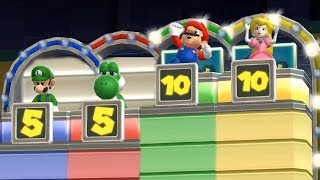 Mario Party 9 Step It Up - Luigi vs Yoshi vs Mario vs Peach Master Difficulty  Cartoons Mee
