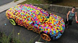 STICKY NOTES CAR PRANK