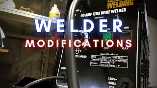 harbor freight 90 amp flux wire welder modifications - Kênh video