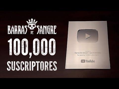 Barras De Sangre: Placa De 100 Mil Suscriptores !!! GRACIAS !!! ( Unboxing 2019 )