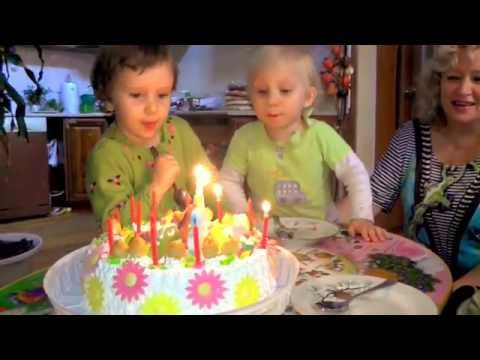 День Рождения Дианы и Надюшки / Торт и свечи