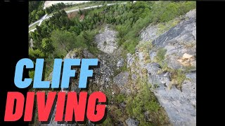 Cliff diving (cinematic fpv)