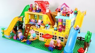 Peppa Pig House Construction Sets - Lego Duplo House Creations Toys For Kids #9