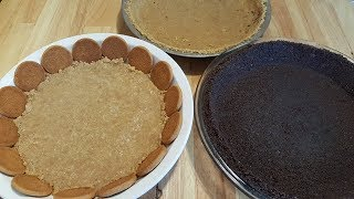 3 Different No Bake Pie Crusts - Easy, No Cook, No Bake - The Hillbilly Kitchen