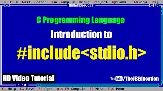 """What is """"#include stdio.h"""" in C Programming Language   HD Video Tutorial"""