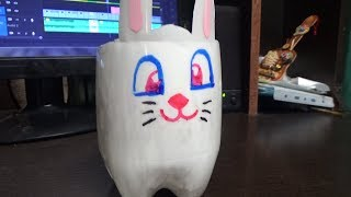 Conejo Hecho Con Botella Plastica.  Rabbit Made With Pet Bottles
