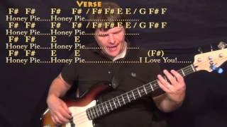 Wild Honey Pie (Beatles) Bass Guitar Cover Lesson with Chords/Lyrics