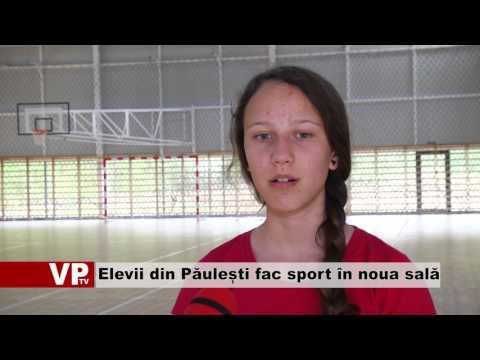 Elevii din Păulești fac sport în noua sală