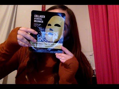Dry facial mask mula sa algae