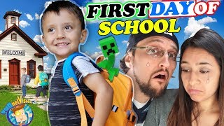 SHAWNS FIRST DAY OF SCHOOL!  Dad Not Handling It So Well! (FV Family Vlog)