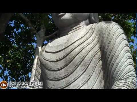 Stone Tall Vitarka Buddha 10 Feet 7 Inches Video