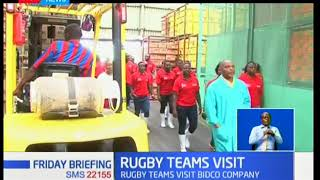 Kenya Rugby Sevens team Shujaa visit Bidco before taking a flight for Las Vegas