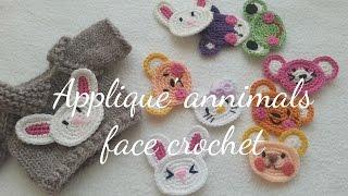 ANNIMALS FACE CROCHET / APPLIQUE