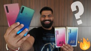 Samsung Galaxy A9 Unboxing & First Look - 4 Cameras🔥🔥🔥