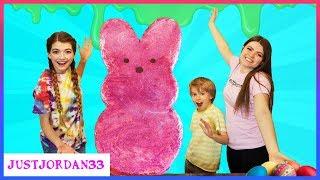 We Made A Giant 4 Foot Slime Peeps! / JustJordan33