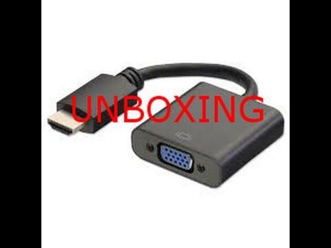 unboxing adattatore vga/hdmi  ita