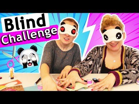 5 Minuten BLIND CHALLENGE   DIY Ideen basteln mit verbundenen Augen   Eva vs. Kathi DIY Inspiration
