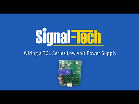 Wiring a TCL Series Low Volt Power Supply