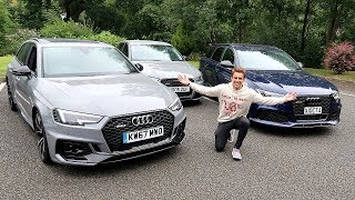 AUDI RS3 VS RS4 VS RS6! FACE OFF!