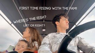FIRST TIME FISHING WITH THE FAM!   DANIEL MIRANDA, SOFIA ANDRES, ZOE MIRANDA