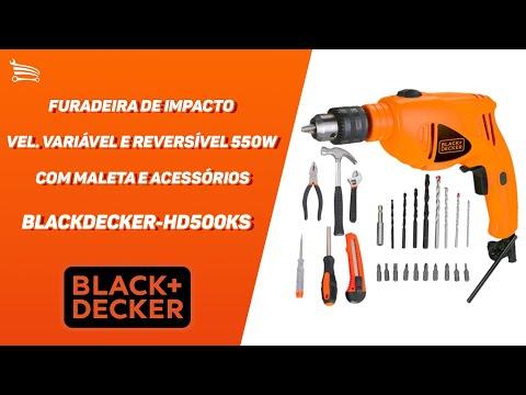 Furadeira de Impacto Vel. Variável e Reversível 550W  com Maleta e Acessórios - Video