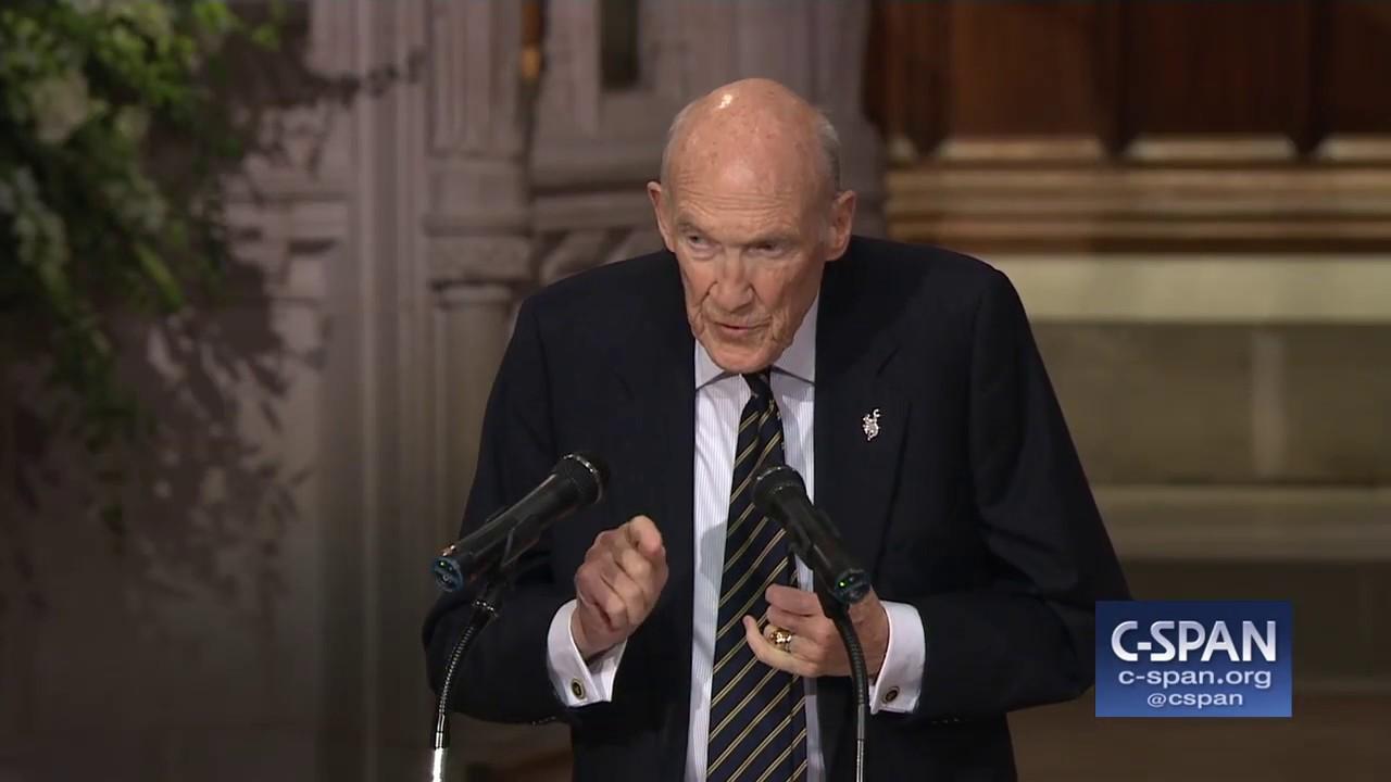Former Senator Alan Simpson Tribute to President George H.W. Bush (C-SPAN) Screenshot Download