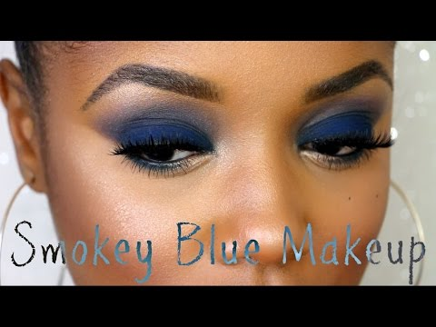 Navy Blue Smokey Eye Makeup | Ellarie