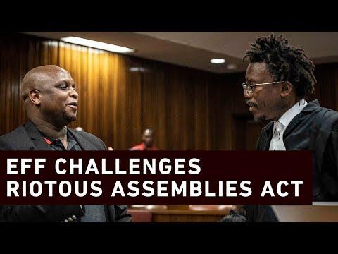Malema challenges Riotous Assemblies Act
